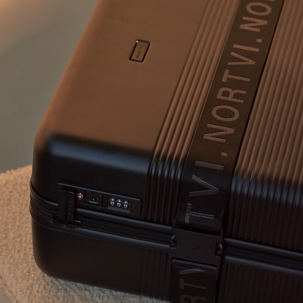 nortvi midnight black essential suitcase