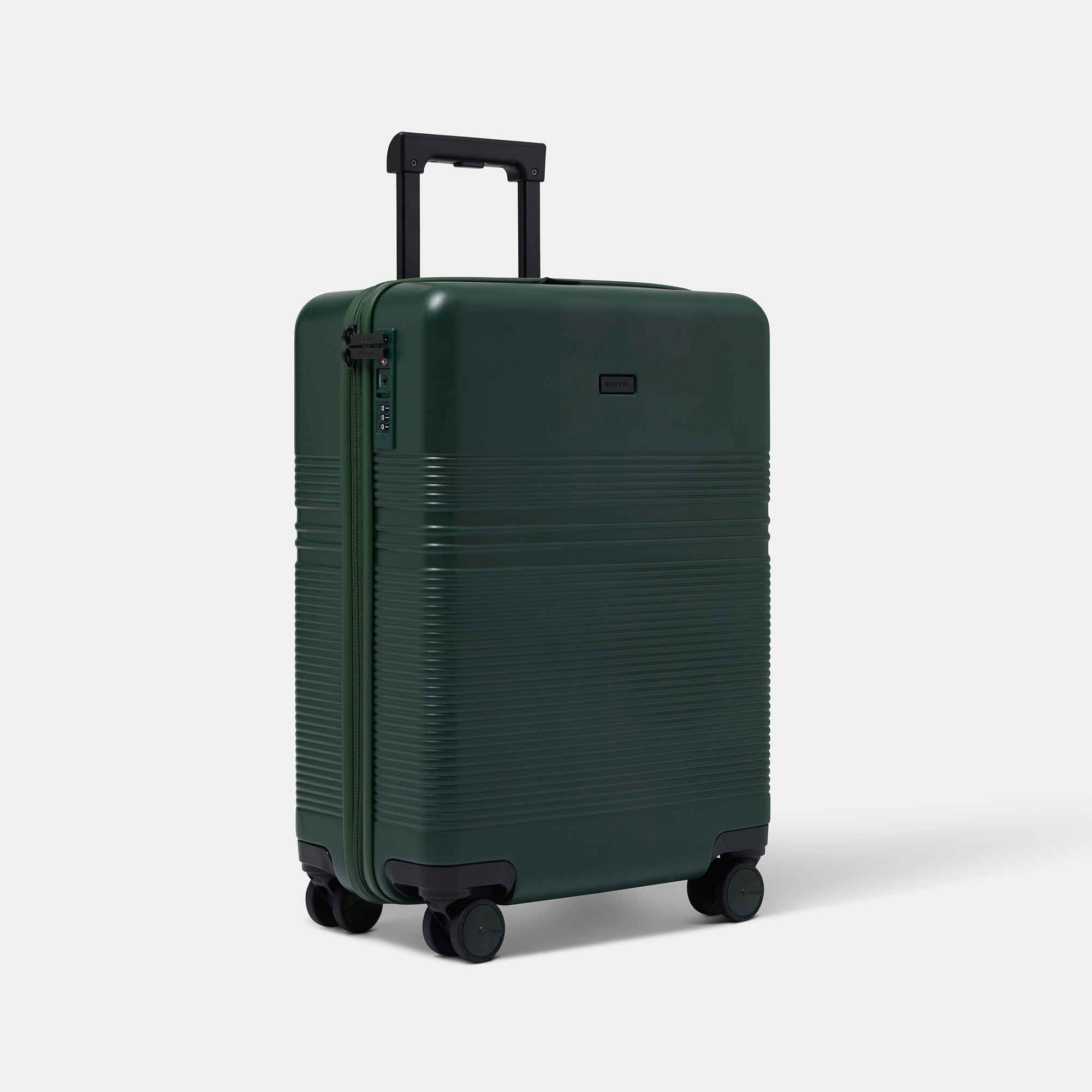 NORTVI sustainable design suitcase green made of durable material.