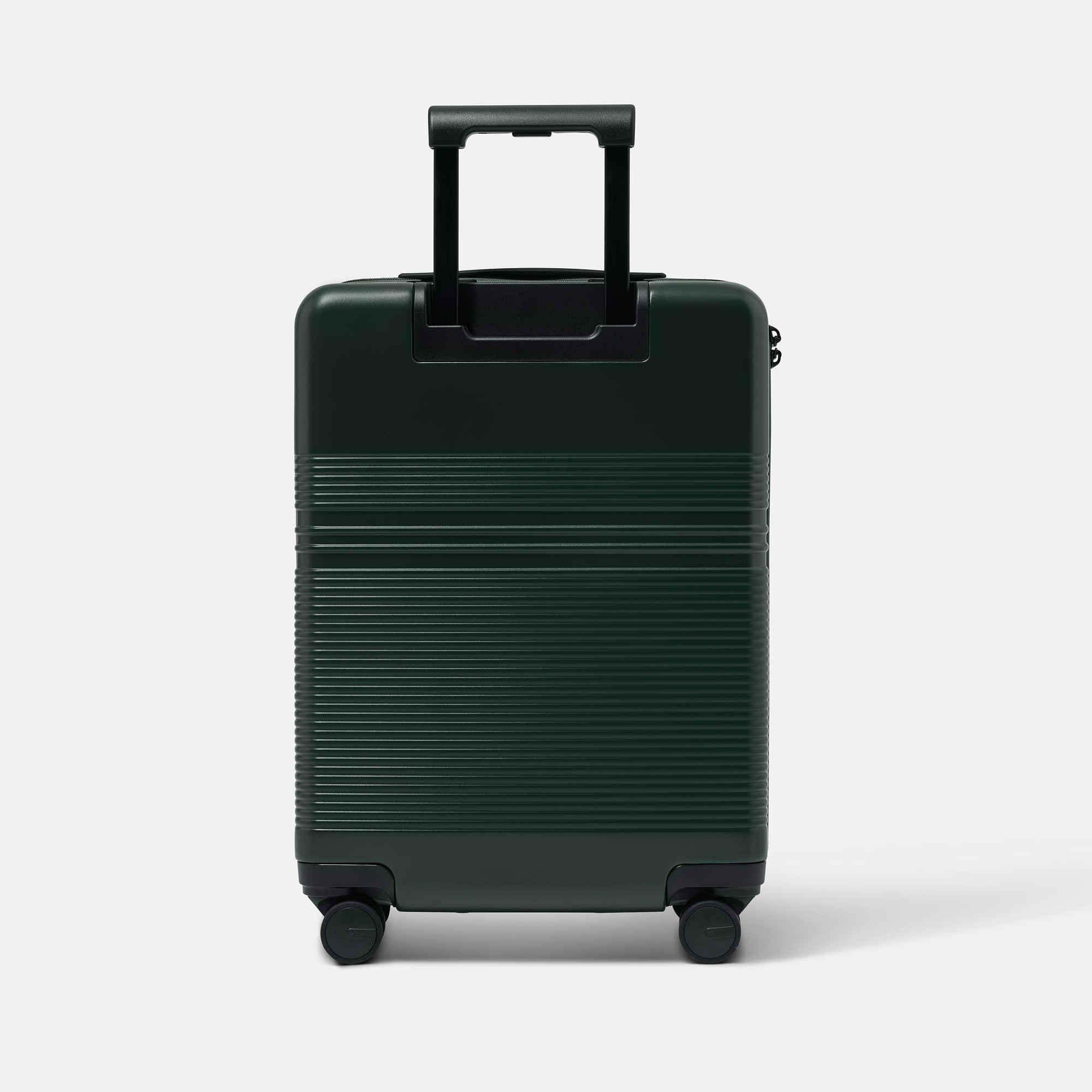 NORTVI sustainable design groen handbagage koffer, trolley suitcase gemaakt van duurzaam materiaal.