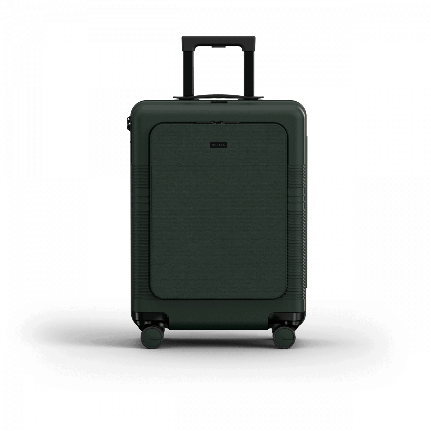 NORTVI sustainable design suitcase Rainforest Green met Front Pocket 39 L gemaakt van duurzaam materiaal.