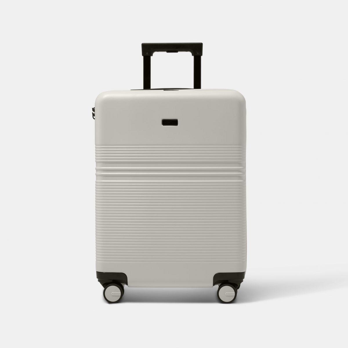 NORTVI sustainable design wit handbagage koffer, trolley suitcase gemaakt van duurzaam materiaal.