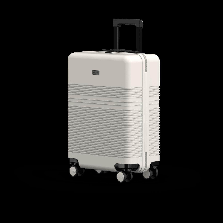 NORTVI sustainable design suitcase Sand White Essential 36 L gemaakt van duurzaam materiaal.