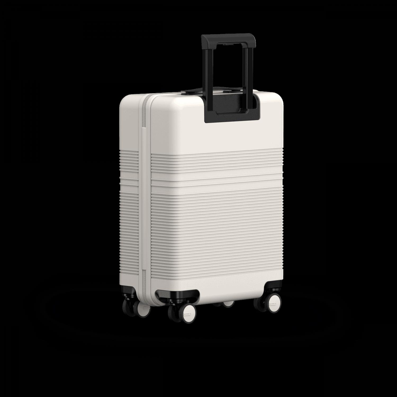 NORTVI sustainable design suitcase Sand White met Front Pocket 39 L gemaakt van duurzaam materiaal.