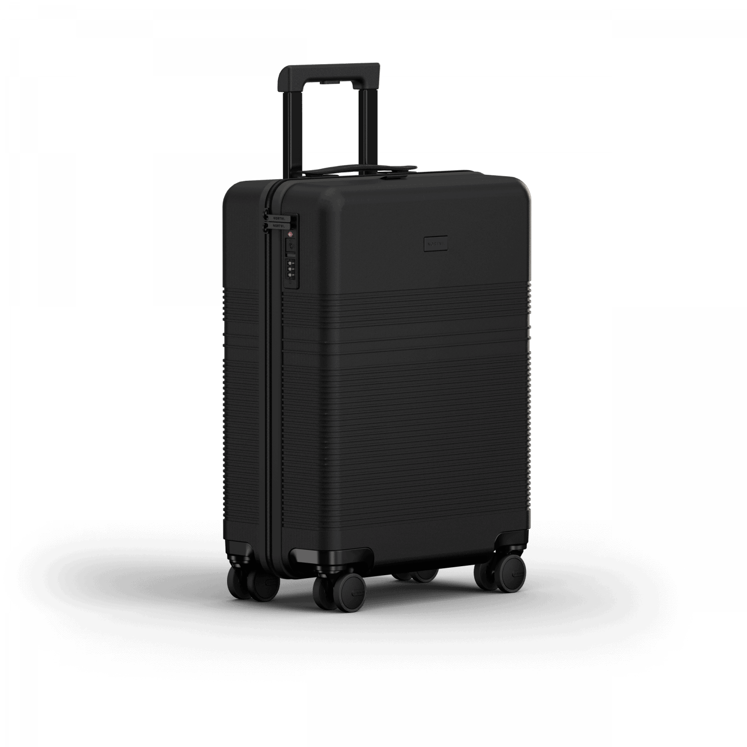 NORTVI sustainable design suitcase Midnight Black Essential 36 L gemaakt van duurzaam materiaal.