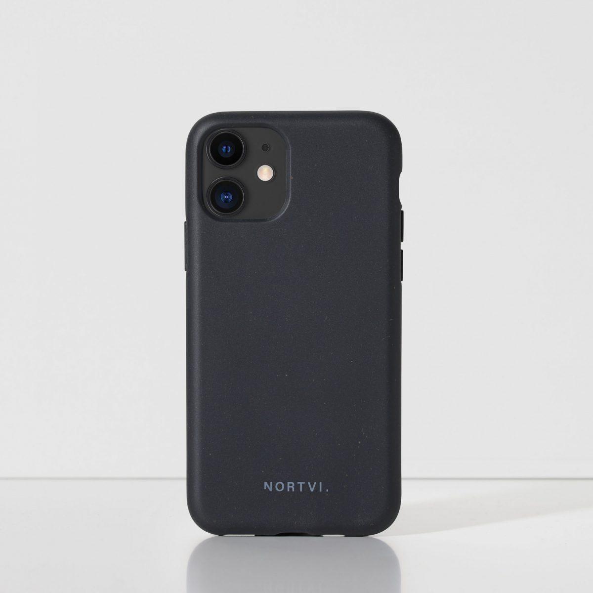 NORTVI black phone case for iPhone 11 case
