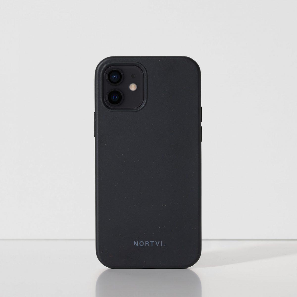 NORTVI black phone case for iPhone 12 case