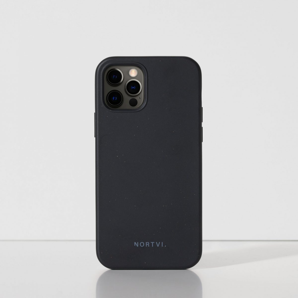 NORTVI black phone case for iPhone 12 Pro case