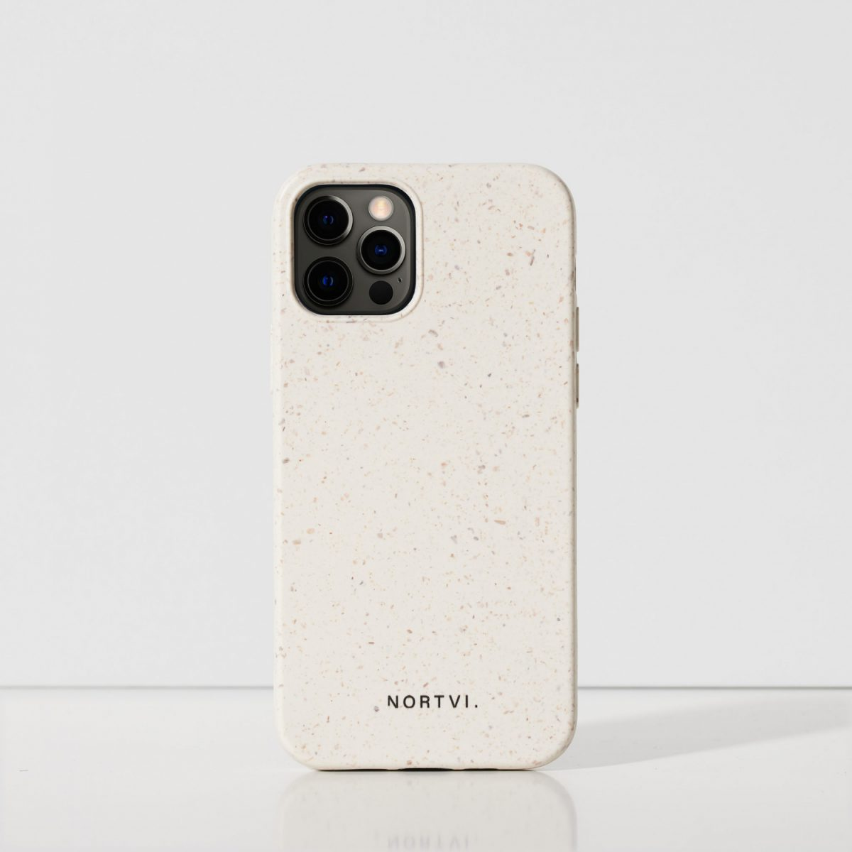 NORTVI white phone case for iPhone 12 Pro case