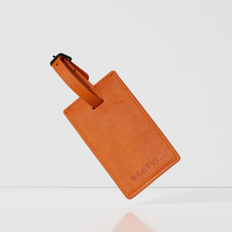 Burnt Orange Luggage Tag