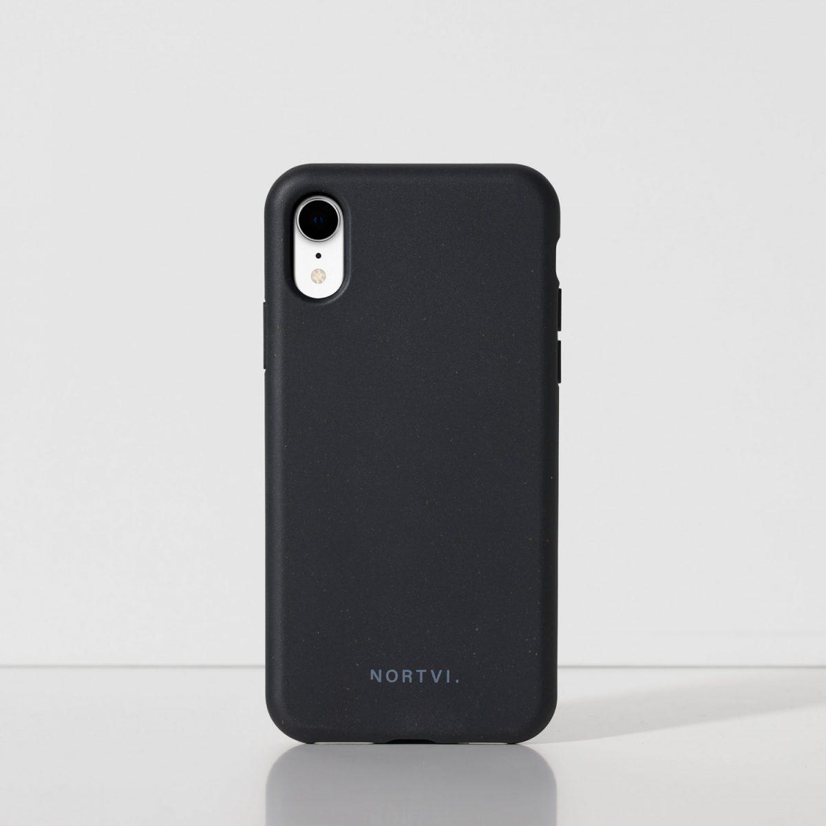 NORTVI black phone case for iPhone XR case