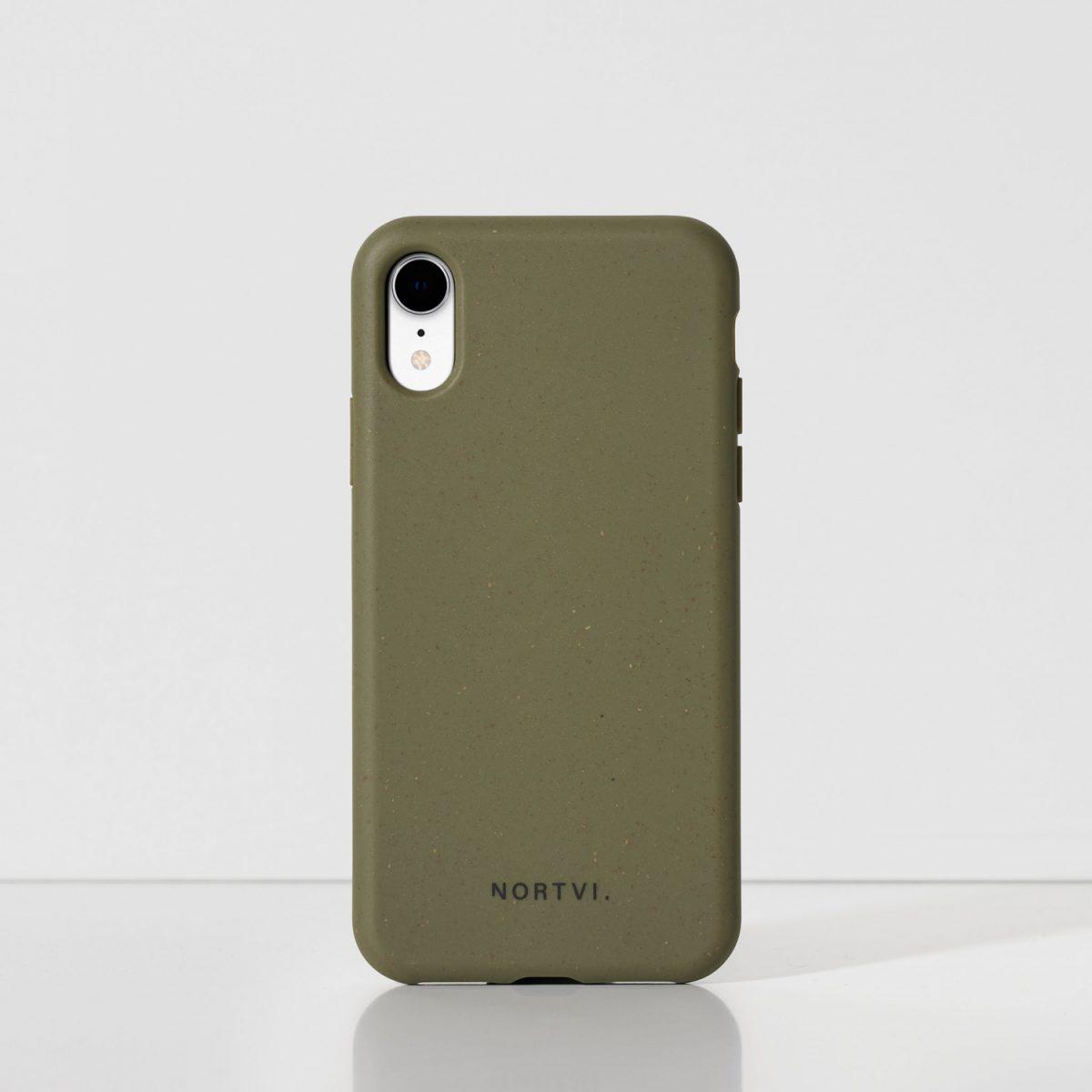 NORTVI green phone case for iPhone XR case