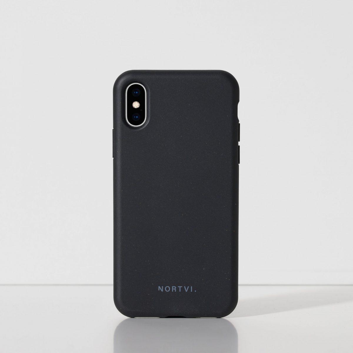 NORTVI black phone case for iPhone XS case